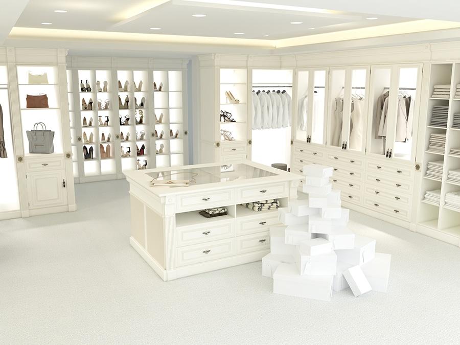 Strategy 5 luxury closet wardrobe with lighting columbus | Innovate Home Org #CustomStorage #Organization #LuxuryCloset #DesignerClosets