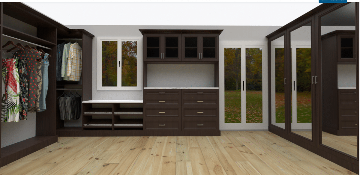 Idea 1 3D closet renderings to see a closet before buying www.closetpro.com | Innovate Home Org #CustomCloset #Organization #3DDesign #Design