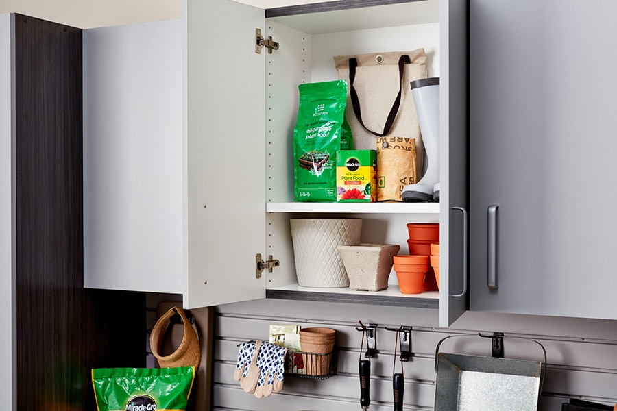 Question 1 - 1 inch thick garage cabinet shelving in Columbus by Innovate Home Org | New Albany, OH  #GarageStorage #HomeOrganization #GarageCabinets
