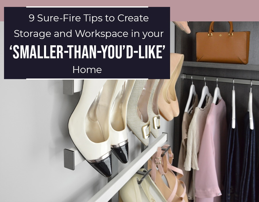 Opening - 9 tips to create storage work space in your too small home | Innovate Home Org | Columbus, OH #Closet #OrganizationSystems #StorageWork