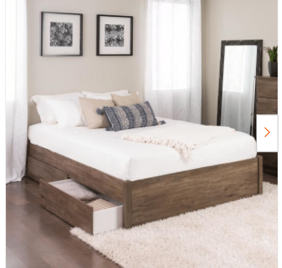 Tip 2 example 3 drawers under a bed credit  | Innovate Home Org #ClosetDrawers #Bedframe #CustomCloset #OrganizationSystems