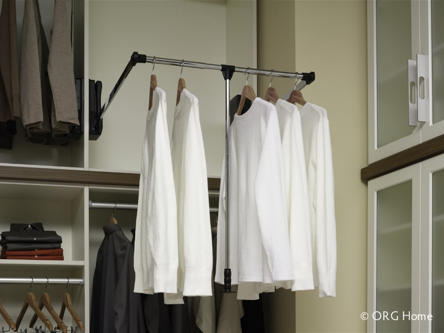 Tip 7 pull down rod in a Dublin ohio closet | Innovate Home Org | Columbus OH #Customstorage #Pulldownrods #DublinOH