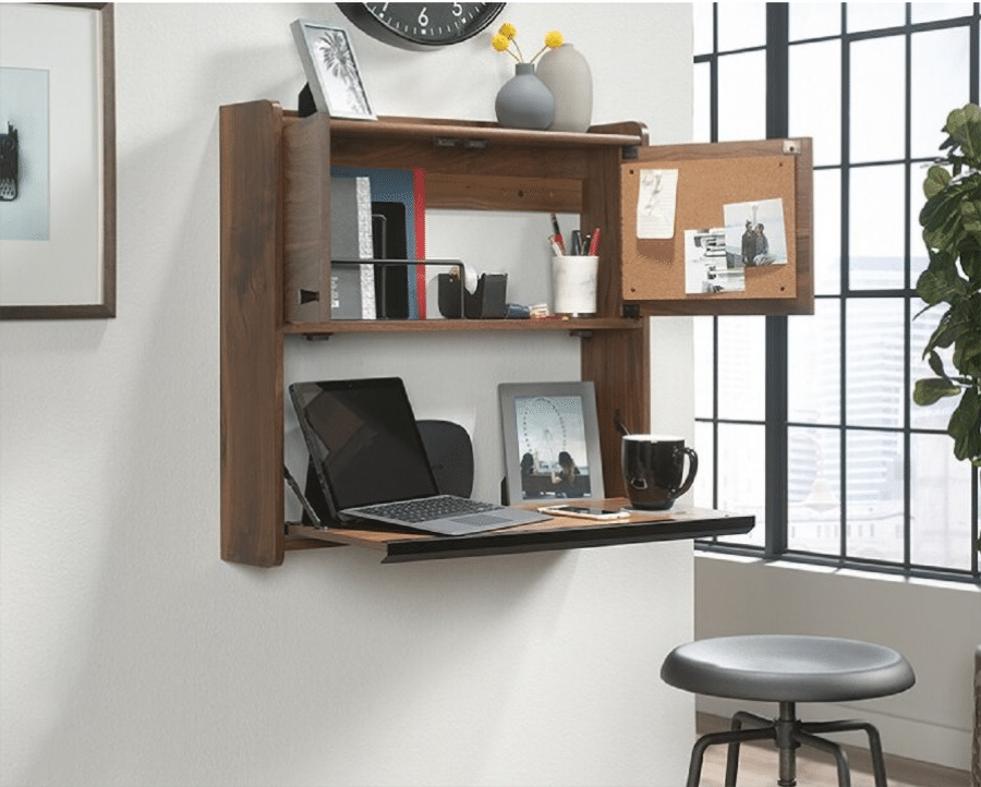 Tip 8 fold down desk credit www.homedit.com  | innovate Home org | Dublin, OH #Folddownseat #Deskseat #Storage