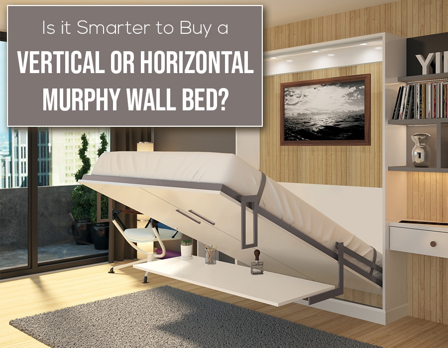 Opening Is it smarter to buy vertical or horizontal murphy wall bed | Innovate Home Org #VerticalMurphyBed #WallBed #MurphyBed #GuestBedroom