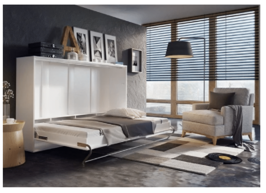 Reason 1 Horizontal Murphy bed in a home with low ceilings credit www.wayfair.com   Innovate Home Org   Columbus Condo #HorizontalMurphybed #MurphyBed #WallBed