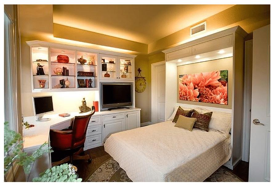 Smart idea 5 murphy space saving bed Valet Custom Closets   Innovate Home Org #MurphyBed #SpareRoom #SavingSpace